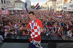 Welcome celebration for Croatian football players - 17 July 2018