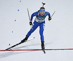 February 10, 2018 - Pyeongchang, South Korea - EMILY DREISSIGACKER crosses the finish line to place 51st in the Womens Biathlon 7.5km Sprint Saturday, February 10, 2018 at Alpensia Biathlon Centre at the Pyeongchang Winter Olympic Games.  She was the highest placing American. Photo by Mark Reis, ZUMA Press/The Gazette (Credit Image: © Mark Reis via ZUMA Wire)