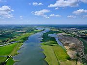 Nederland, Gelderland, GemeenteOverbetuwe, 27-05-2020; Elst, Rijnbandijk en Neder-rijn. Aanleg van de Elster Buitenwaarden (tussen Elst en Remmerden), nieuw natuurgebied (Natura 2000-gebied Rijntakken).<br /> Rijnbandijk and Lower Rhine. Construction of the Elster Buitenwaarden (between Elst and Remmerden), new nature reserve (Natura 2000 area Rhine Branches).<br /> <br /> luchtfoto (toeslag op standaard tarieven);<br /> aerial photo (additional fee required)<br /> copyright © 2020 foto/photo Siebe Swart