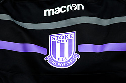 A general view of a Stoke City badge on a bag