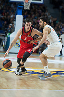 Real Madrid Facundo Campazzo and Baskonia Vitoria Luca Vildoza during Turkish Airlines Euroleague match between Real Madrid and Baskonia Vitoria at Wizink Center in Madrid, Spain. January 17, 2018. (ALTERPHOTOS/Borja B.Hojas)
