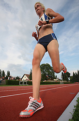 Petra Sink at Athletic National Championship of Slovenia, on July 20, 2008, in Stadium Poljane, Maribor, Slovenia. (Photo by Vid Ponikvar / Sportal Images).