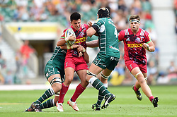Marcus Smith of Harlequins is double-tackled - Mandatory byline: Patrick Khachfe/JMP - 07966 386802 - 02/09/2017 - RUGBY UNION - Twickenham Stadium - London, England - London Irish v Harlequins - Aviva Premiership