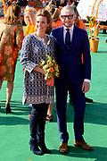 Koningsdag 2014 in de Rijp, het vieren van de verjaardag van de koning. / Kingsday 2014 in the Rijp , celebrating the birthday of the King. <br /> <br /> <br /> Op de foto / On the photo:   Prins Bernhard jr. en prinses Annette / Prince Bernhard and Princess Annette