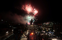 Fireworks display during the 2018 European Championships Great Big Opening Party at George Square, Glasgow. PRESS ASSOCIATION Photo. Picture date: Wednesday August 1, 2018. See PA story SPORT European. Photo credit should read: Jane Barlow/PA Wire