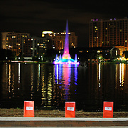 "Over 3000 luminaries were placed around Lake Eola park during the ""Marriage Equality Rally"" at the Lake Eola bandshell in downtown Orlando, Florida on Thursday, June 27, 2013. Orlando's gay community and its supporters are celebrating the U.S. Supreme Court rulings on gay marriage and the Defense of Marriage Act (DOMA) reversal that constitutionally denied legally married gay couples federal benefits. (AP Photo/Alex Menendez)"