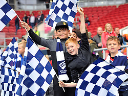 Young Bristol supporters at Ashton Gate Stadium - Mandatory by-line: Paul Knight/JMP - 03/09/2017 - RUGBY - Ashton Gate Stadium - Bristol, England - Bristol Rugby v Hartpury - Greene King IPA Championship