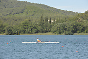 Banyoles, SPAIN,   GV's as crews train at the FISA World Cup Rd 1. Lake Banyoles  Thursday 28/05/2009   [Mandatory Credit. Peter Spurrier/Intersport Images]