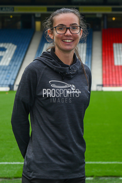 Scottish Womens Football has today agreed a new partnership with Edinburgh based Kit and Apparel Supplier Football Nation.<br /> <br /> The Partnership will see Scottish Women's Football Staff & Volunteers wearing matching kit supplied by FN Teamwear.<br /> <br /> Shannon Leishman of FN Teamwear & Hibernian Women FC at Hampden Park for the launch of the new partnership with Scottish Womens Football.<br /> <br /> 12/10/2021, The National Stadium, Hampden Park, Scotland.