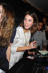 ALEXA CHUNG at the Form Menswear launch at Harrod's, London on 2nd October 2008.