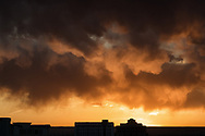 Sunset over the city of Albuquerque, New Mexico