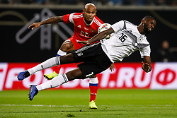 November 15, 2018 - Leipzig, Germany - Antonio Rudiger (in front) of Germany and Ari of Russia vie for the ball during the international friendly match between Germany and Russia on November 15, 2018 at Red Bull Arena in Leipzig, Germany. (Credit Image: © Mike Kireev/NurPhoto via ZUMA Press)