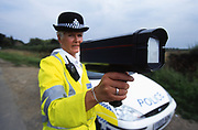Police Speed Trap testing speeding