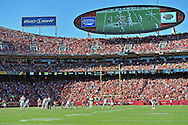 KANSAS CITY, MO - OCTOBER 27:  A general view of Arrowhead Stadium during a game between the Kansas City Chiefs and the Cleveland Browns during the second half on October 27, 2013 in Kansas City, Missouri.  (Photo by Peter G. Aiken/Getty Images) *** Local Caption ***