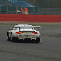 #92 Porsche 911 RSR, Porsche Team Manthey (drivers: Holzer/Makowiecki/Lietz) at first free practice on Friday, 18th April, at the Silverstone 6h 2014