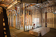 The library undergoes major renovations to provide students with modular workstations and conference rooms at Milpitas High School in Milpitas, California, on August 6, 2014. (Stan Olszewski/SOSKIphoto)
