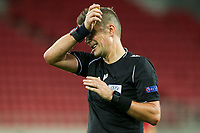PIRAEUS, GREECE - OCTOBER 21: Referee Daniele Orsato during the UEFA Champions League Group C stage match between Olympiacos FC and Olympique de Marseille at Karaiskakis Stadium on October 21, 2020 in Piraeus, Greece. (Photo by MB Media)