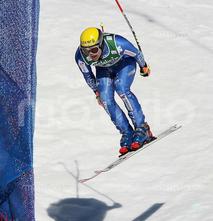 Ski Alpin; Saison 2006/2007  77. Weltcup Abfahrt Herren Ambrosi Hoffmann (SUI) am Hundschopfsprung