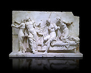 Roman Relief panal from the Museum of Archaeology, Italy ..<br /> <br /> If you prefer to buy from our ALAMY STOCK LIBRARY page at https://www.alamy.com/portfolio/paul-williams-funkystock/greco-roman-sculptures.html . Type -    Naples    - into LOWER SEARCH WITHIN GALLERY box - Refine search by adding a subject, place, background colour, etc.<br /> <br /> Visit our ROMAN WORLD PHOTO COLLECTIONS for more photos to download or buy as wall art prints https://funkystock.photoshelter.com/gallery-collection/The-Romans-Art-Artefacts-Antiquities-Historic-Sites-Pictures-Images/C0000r2uLJJo9_s0