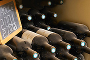 Rouge red 2001 2002. Chateau St Martin de la Garrigue. Languedoc. Bottle cellar. France. Europe. Bottle.
