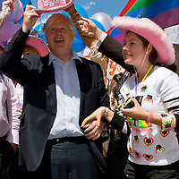 LONDON ENGLAND  July 5th  Boris Johnson at  London Pride  where more than half a million revellers are expected at this year's gay and lesbian  parade i