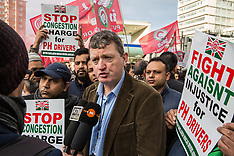2019-01-14 Minicab drivers protest at TfL