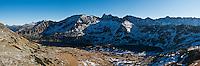 Panoramic view of Five Lakes Valley, Tatra mountains, Poland