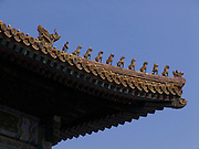 roof ornament within the Forbidden City Beijing China