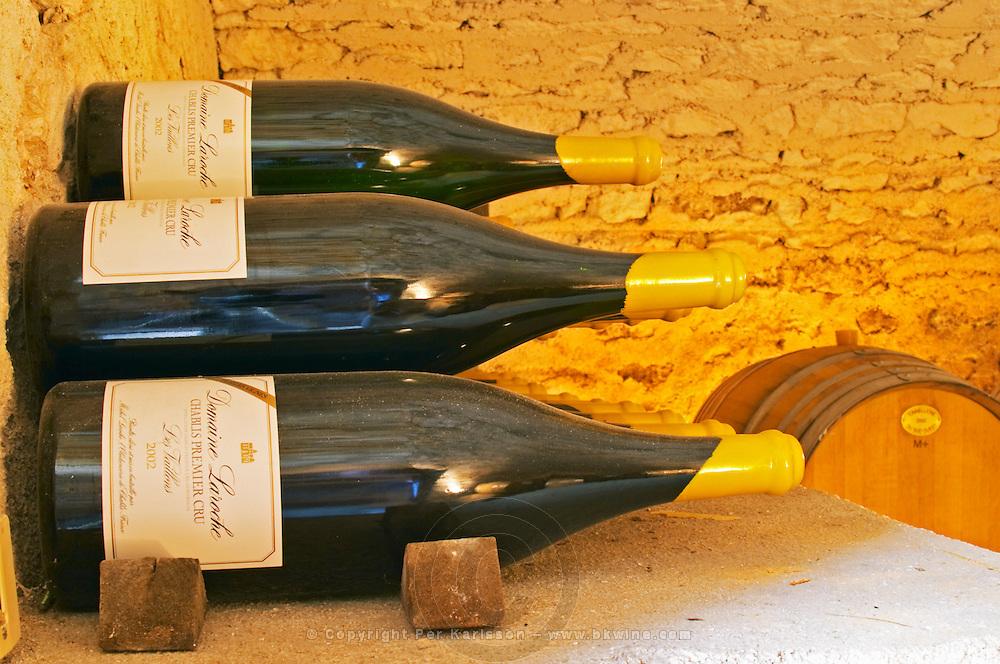 Double magnum bottles of Chablis Premier Cru Les Vaillons 2002 in Domaine Michel Laroche's private cellar