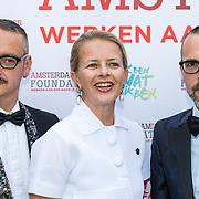 NLD/Amsterdam/20150604 - Amsterdam Diner 2016, Mabel Wisse Smit en Couturiers Viktor en Rolf
