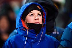 February 12, 2018 - Pyeongchang, SOUTH KOREA - 180212 Hedvig Wessel of Norway watching the menÃ•s moguls final during day three of the 2018 Winter Olympics on February 12, 2018 in Pyeongchang..Photo: Carl Sandin / BILDBYRN / kod CS / 57999_286 (Credit Image: © Carl Sandin/Bildbyran via ZUMA Press)