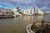 Philippines, ile de Luzon, Manille, vue generale depuis Intramuros. Riviere Pasig.// Philippines, Luzon island, Manila, general view from intramuros, Pasig river.