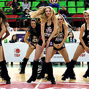 Anadolu Efes's show girls during their Turkish Basketball League match Anadolu Efes between Turk Telekom at the Ayhan Sahenk Erdem Arena in Istanbul, Turkey on Sunday, 09 March, 2013. Photo by Aykut AKICI/TURKPIX