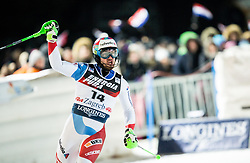 """Luca Aerni (SUI) reacts  during the 2nd Run of FIS Alpine Ski World Cup 2017/18 Men's Slalom race named """"Snow Queen Trophy 2018"""", on January 4, 2018 in Course Crveni Spust at Sljeme hill, Zagreb, Croatia. Photo by Vid Ponikvar / Sportida"""