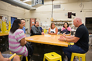 Ceramics teacher Jeff Albrecht during Back To School Night at Milpitas High School in Milpitas, California, on August 30, 2016. (Stan Olszewski/SOSKIphoto)