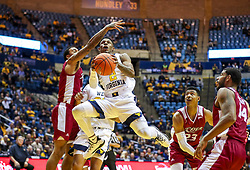 Nov 28, 2018; Morgantown, WV, USA; West Virginia Mountaineers guard Brandon Knapper (2) drives down the lane during the second half against the Rider Broncs at WVU Coliseum. Mandatory Credit: Ben Queen-USA TODAY Sports