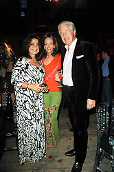 Left to right, DANIELLA HELAYEL and MARTIN & ANNE SUMMERS at 'Superficial Butterfly' a party hosted by Amanda Eliasch to celebrate her 50th birthday held at Number One Mayfair (St Marks Church) North Audley Street, London on 12th May 2010.