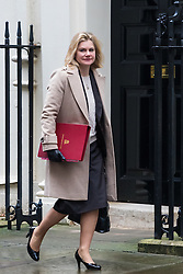 Downing Street, London, February 7th 2017. Education Secretary Justine Greening arrives in Downing Street for the weekly UK cabinet meeting.
