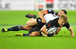 New Zeland 's Sam Whitelock during a rugby union international match at Stade de France stadium in Saint Denis, outside Paris, France, Saturday, Nov. 11, 2017Photo by Christian<br /> Liewig/ABACAPRESS.COM
