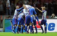 Fotball<br /> Tyskland<br /> 23.12.2015<br /> Foto: Witters/Digitalsport<br /> NORWAY ONLY<br /> <br /> 1:0 Jubel v.l. Vedad Ibisevic, Marvin Plattenhardt, John Anthony Brooks, Torschuetze Vladimir Darida (verdeckt), Sebastian Langkamp, Per Ciljan Skjelbred (Berlin)<br /> Fussball Bundesliga, Hertha BSC Berlin - 1. FSV Mainz 05