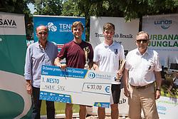 Miran Krasevec, Matic Spec, Miha Velicki and Ivan Gorjup after finals of Drzavno prvenstvo v tenisu za clane in clanice, on June 27th, 2019 in Maribor, Slovenia. Photo by Milos Vujinovic / Sportida