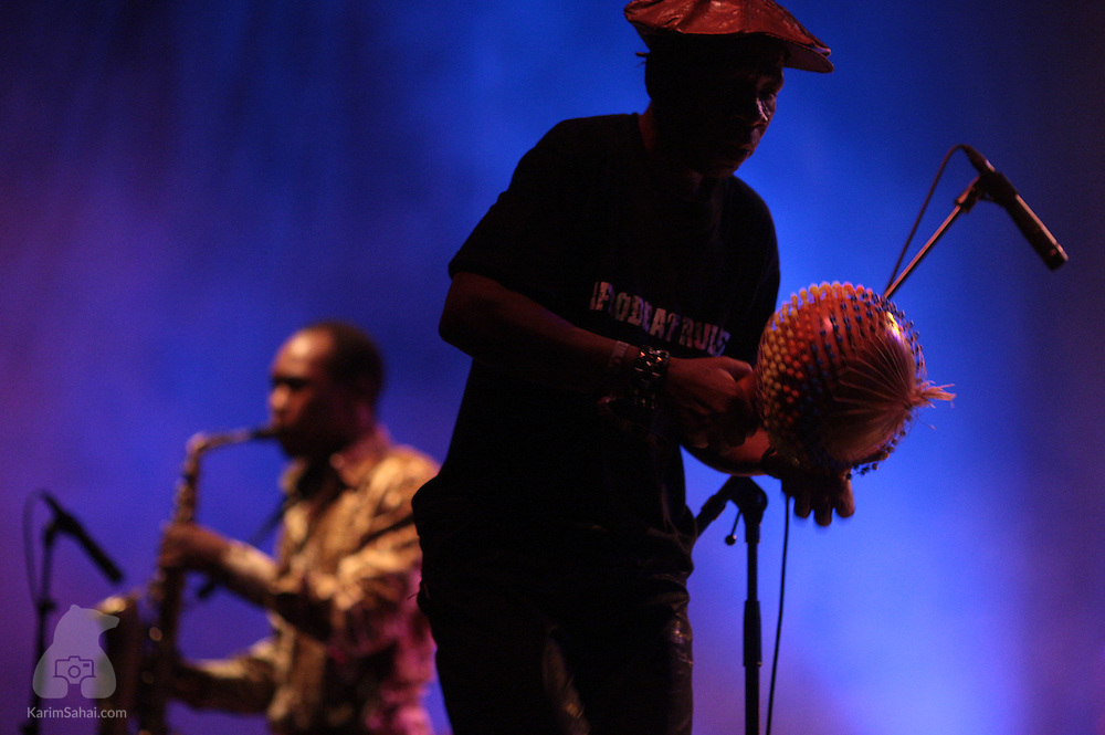 March 14, 2009. Nigerian artist Seun Kuti performs on the Brooklands Stage, during the 2009 WOMAD world music festival in New Plymouth, New Zealand. Seun Kuti is the youngest son of Fela Kuti, the creator of the afrobeat style of music