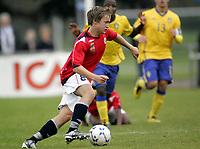Fotball<br /> Landskamp G15<br /> Sverige v Norge 0:3<br /> Arvika<br /> 23.09.2010<br /> Foto: Morten Olsen, Digitalsport<br /> <br /> Bård Finne  -  Brann
