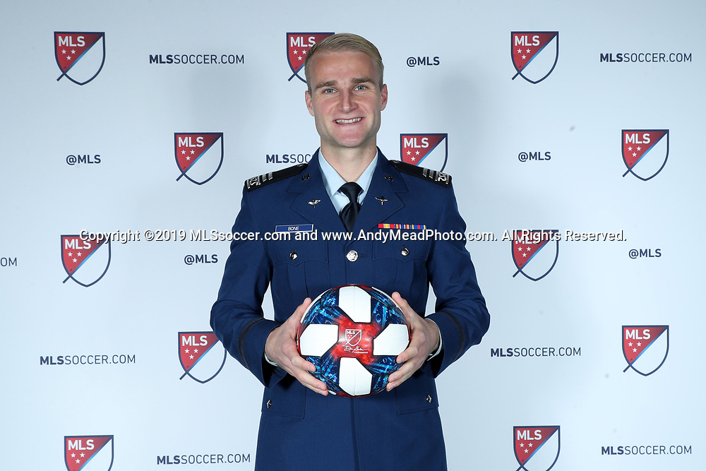 CHICAGO, IL - JANUARY 11: Tucker Bone was taken with the 20th overall pick by Seattle Sounders FC. The MLS SuperDraft 2019 presented by adidas was held on January 11, 2019 at McCormick Place in Chicago, IL.