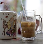 Iced Coffee with Milk. Hanoi, Vietnam, Asia