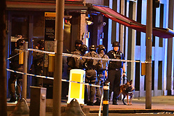 © Licensed to London News Pictures. 03/06/2017. London, UK. Armed police are seen near London Bridge after reports of an incident involving a vehicle and pedestrians.  Reports are saying a white transit van may have deliberately run down people crossing the bridge. Photo credit: Ben Cawthra/LNP