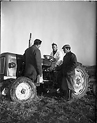 10/01/1961.01/10/1961.10 January 1961.Tractor demonstration David Brown 950 at Multyfarnham Co. Meath.