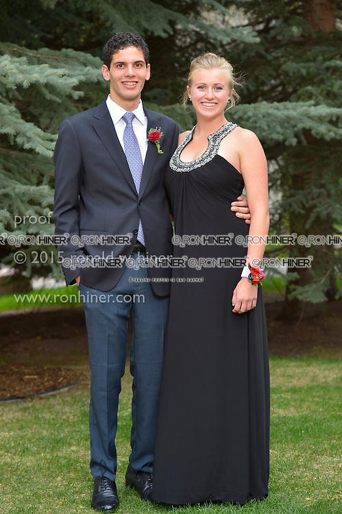 Vail Mountain School Prom Night; Charlie Aziz, Hannah Hardenbergh