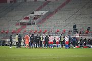 Fussball: 2. Bundesliga, FC St. Pauli - Hamburger SV, Hamburg, 01.03.2021<br /> Enttäuschung HSV<br /> © Torsten Helmke