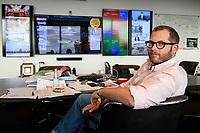04 AUG 2021, BERLIN/GERMANY:<br /> Julian Reichelt, Vorsitzender der Chefredaktionen und Chefredakteur Digital der Bild und der Bild Printausgabe, an seinem Schreibtisch, in seinem Buero, Axel-Springer-Haus<br /> IMAGE: 20210804-02-050<br /> KEYWORDS: Büro, Bild Zeitung